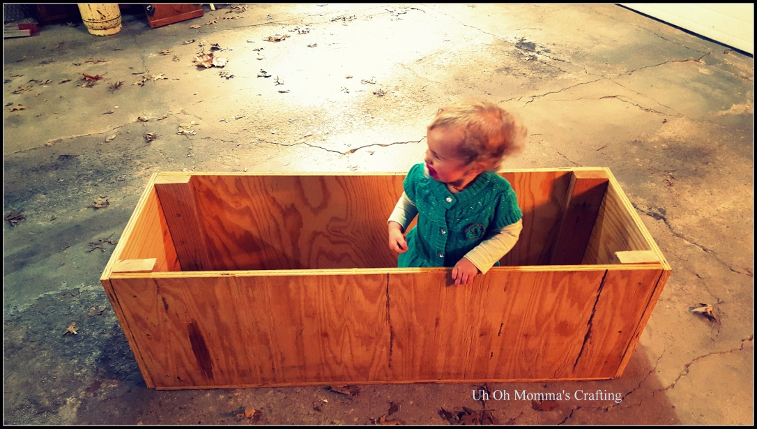 Garden Plater Box with a Baby inside