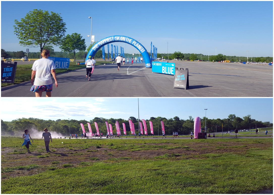 Color Run 2016 - Blue and Pink Archs